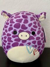 """Squishmallows 8"""" Pammy the Purple Spotted Pig NWT"""