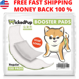 100 Count Dog Diaper Liners Booster Pads for Male and Female Dogs Non-Toxic