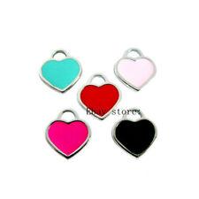 5pcs Mix Color Heart Hang Pendant Charms DIY Necklace/Pet Collar /Phone Strip