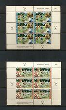 New Zealand #B82a-83a  (1971 Sports Field Hockey Health sheets) VFMNH CV $20