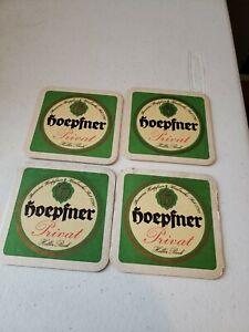 Lot of 4 Vintage Hoepfner Privat  Heller Bock Beer Bar Coaster From German