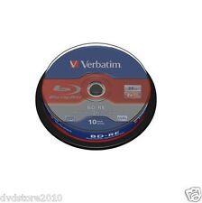 30 BD -RE Verbatim Vergini Vuoti 25GB 2X GB Minuti BluRay Pack Spindle 43694