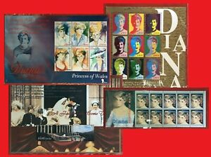 ZAYIX - Princess Diana Collection - Her Story - 4 unissued souvenir sheets