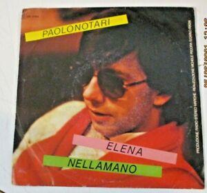 """PAOLO NOTARI """"ELENA/NELLAMANO """" 1981 VALLEMANIA VR 0184 rarissimo OBSCURE POP"""
