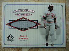2001 SP Authentic Cooperstown Calling#CC-EM Eddie Murray Jersey Card
