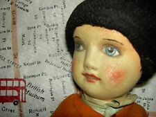UNUSUAL, early 1920s super rare, DEAN'S Rag Book character boy doll, all orig.