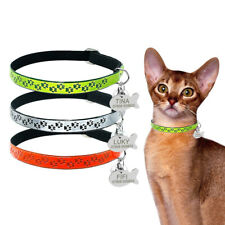 Reflective Pet Dog Cat Collar Soft Collar with Engraved ID Tag for Puppy Kitten