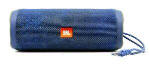 JBL Flip 4 Portable Wireless Bluetooth Speaker - Blue- Cosmetic Damage / Stained