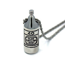 Han Cholo Brass 40 oz. Pendant Silver Necklace 24""