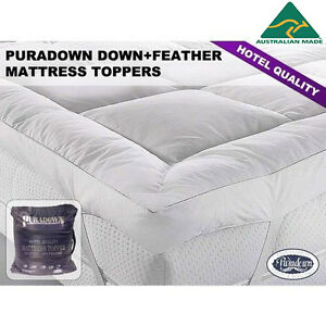 Puradown Hotel Quality Duck Feather and Down Mattress Topper