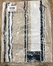 "NAUTICA LAKEVIEW RUG 21"" X 34"" BEIGE STRIPED NEW"