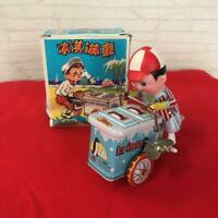 Tin ice cream shop mainspring toy Wind up toy Vintage Antique Rare Limited