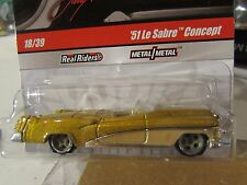 Hot Wheels Larry's Garage Real Riders Tires '51 Le Sabre Concept 18/39 Gold