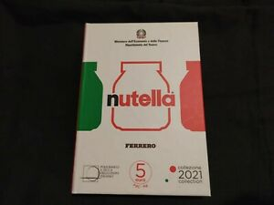"""TRITTICO Nutella del Gruppo Ferrero """"serie eccellenze italiane"""" - monete 5 euro"""
