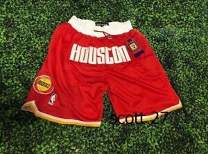 Rockets Houston Red shorts all Stiched S-XXL