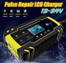 12/24V 8A 150Ah Caricabatterie Mantenitore Batteria Con Cavetti Per Auto e Moto