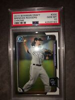 2015 Bowman Chrome Draft Brendan Rodgers Colorado Rockies Prospect PSA 10💎GEM