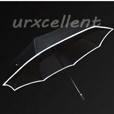 Triple Folding Umbrella Auto Reflective Edge Windproof Night Safety Anti UV Gift
