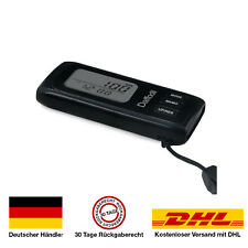 Schrittzähler Pedometer Tracker Kalorienzähler mit 7-Tage Speicher - Uhr schwarz