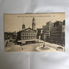 Faneuil Hall Cradle of Liberty Boston Massachusetts Unposted Postcard