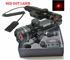 Red Dot laser Sight Remote Switch Scope&barrel Mounts For Gun Rifle Scope Hunt
