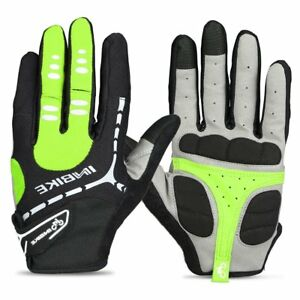 INBIKE 5mm Gel Padded Touch Screen Full Finger Cycling Gloves Woman Men Fall USE