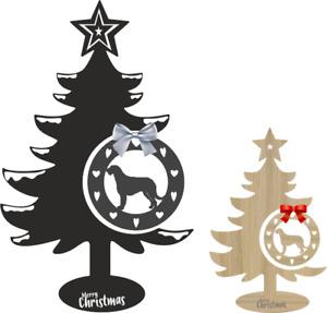 Irish Wolfhound Christmas Tree and Bauble Xmas dog table decoration