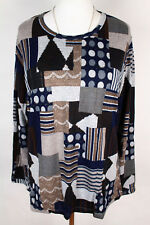 NEW WOMEN BLOUSE size  12/14  TOP  LONG SLEEVE  TUNIC  LADIES   3417