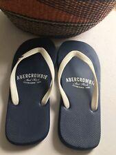 Abercrombie And Fitch Men's Blue & White Flip-Flops Sz 12