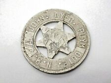 More details for antique american john ayer plymouth n. h. star token. small piece of history.