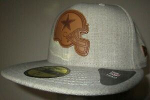 New Era 59Fifty Dallas Cowboys NFL Cap Hat Men's Fitted 7 1/8 Heathered Helmet