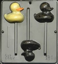 Duck Lollipop Chocolate Candy Mold Easter  1807 NEW