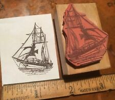 Sailing Clipper RUBBER STAMP Flying Cloud 1851 Sail Boat Ship Ocean Craft Waves