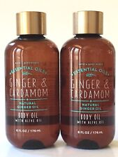 New 2 Bath & Body Works Ginger & Cardamom Body Oil Olive 6 Oz Ginger Essential