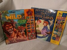 """Disney's """"Peter Pan"""" and """"The Wild"""" Interactive Sound Book and Game - Unopened"""