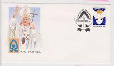 (ICF174) 1986 AU Cover 36c Papal visit Special cancel (E)
