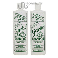 "Nutrine Garlic Shampoo Unscented 20 oz ""Pack of 2"" w/ Free Nail File"