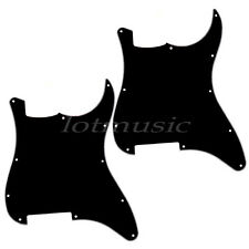 2 Guitar Blank Pickguard Scratch Plate for Fender Strat Stratocaster 3 Ply Black