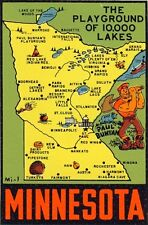 Vintage Travel Decal Replica Window Cling - Minnesota