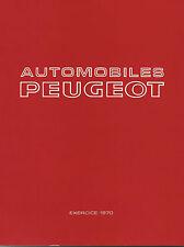 Peugeot Rapport du conseil administration 1970 Factory publication rapport