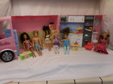 Barbie Hot Tub Party Bus Motor Home Camper RV 2006 Mattel + 6 Dolls + Accessorie