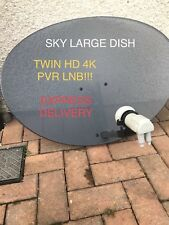 SALE!! SKY SATELLITE DISH ZONE 2 78CM TWIN!! HD LNB FREESAT ASTRA HOTBIRD HD 4K