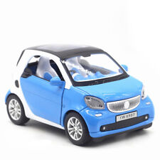 Benz Smart ForTwo 1:24 Model Car Diecast  Toy Vehicle Sound Light Kids Gift Blue