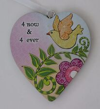 zzbd 4 Now & 4 ever forever simple Love Heart Ornament ganz