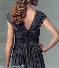 Vogue 1253 Tracy Reese*Gathered Bodice w Petticoat Knit Dress Pattern*6-12*FF