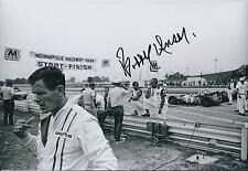 Bobby Unser SIGNED Indianapolis Raceway CART 12x8 Photo AFTAL COA Autograph