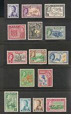 Fiji #147-162 (SG #280-295) VF MVLH - 1954 1/2p To £1 Queen Elizabeth II