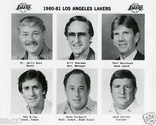 1980-81 JERRY BUSS PAT RILEY SHARMAN LAKERS TEAM PHOTO
