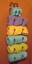 Vintage Early Towel  Wrought Iron bath shower storage shelf bathing wall stand