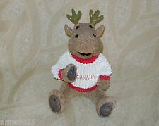 NEW MOOSE COIN PIGGY BANK CANADA SWEATER MAPLE LEAF SOUVENIR ANIMAL WILDLIFE